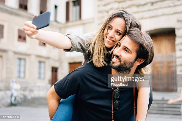 Couple selfie