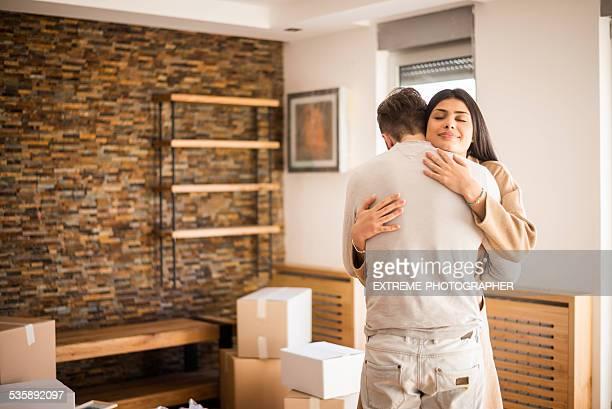 Couple sharing a hug
