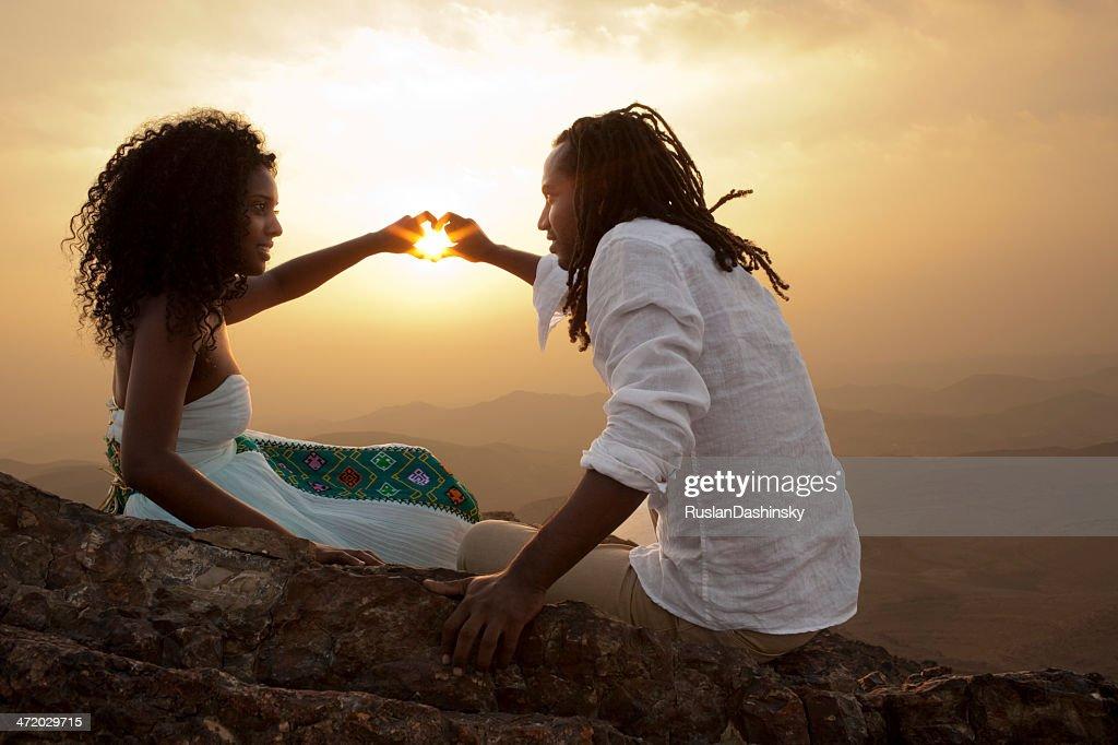 Couple sharing\\ having romantic time. : Stock Photo