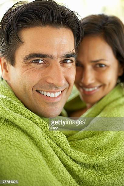 Couple Sharing Towel