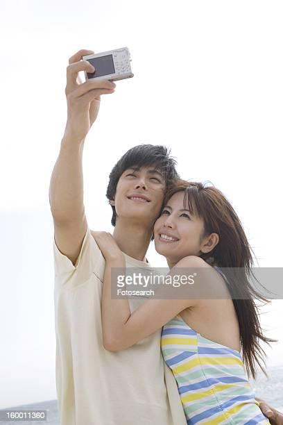 Couple shooting photo