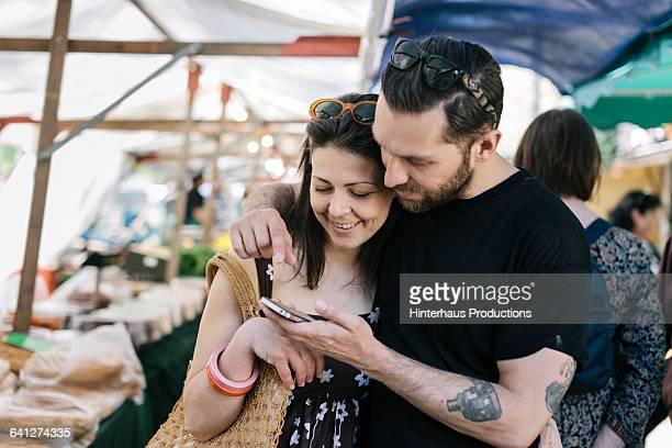 Couple shopping at Farmer Market