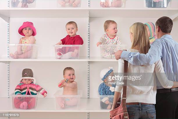 couple shopping for baby