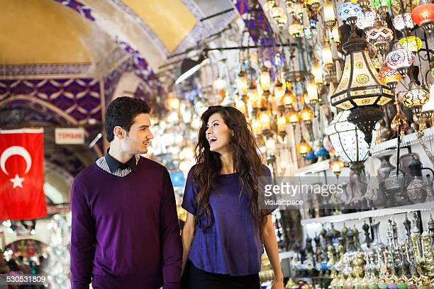 Couple Shopping in Bazaar