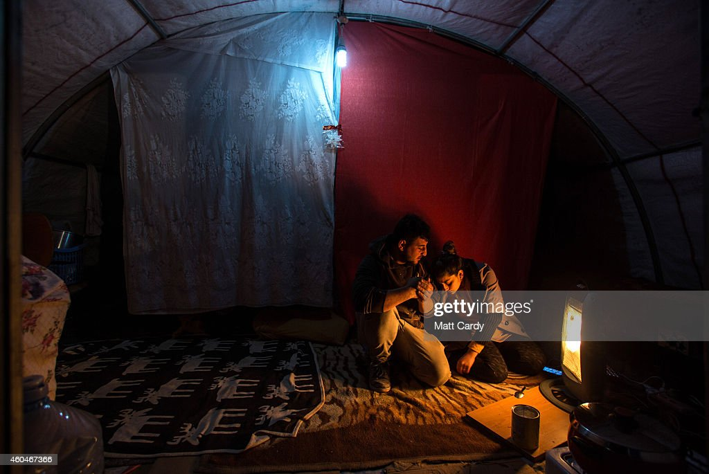 Displaced Christians Take Refuge In Erbil : News Photo