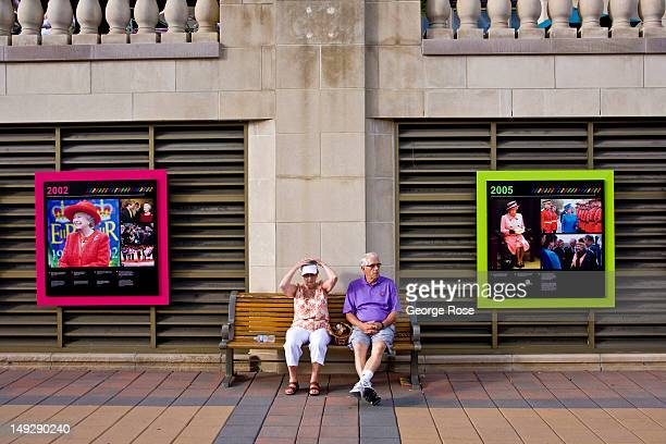 A couple sits on a bench outside the Fairmont Chateau Laurier Hotel on June 30 2012 in Ottawa Canada Ottawa the captial of Canada is the fourth...