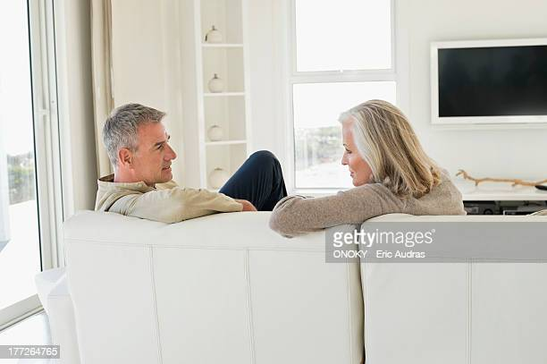 Couple sitting on a couch