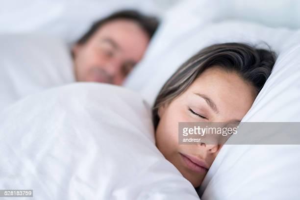 Paar Schlafen zusammen