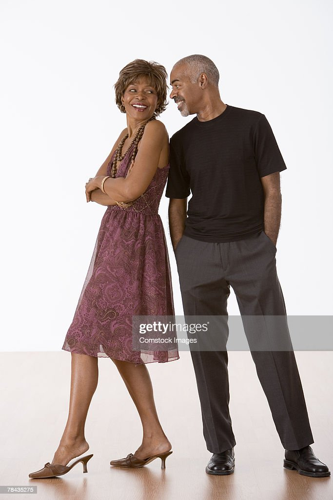 Couple smiling at each other : Stockfoto