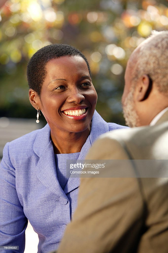 Couple smiling : Stockfoto