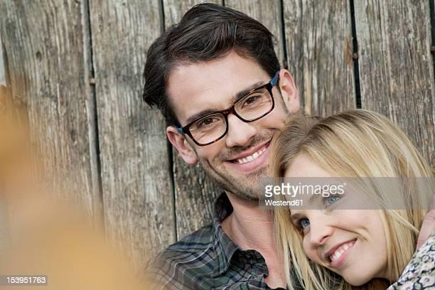 Couple smiling, portrait
