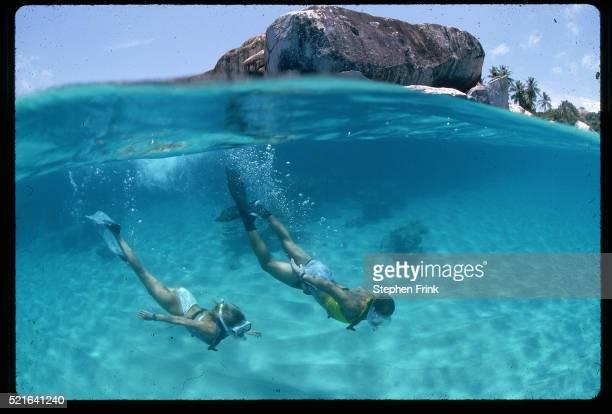 Couple Snorkeling in Virgin Islands