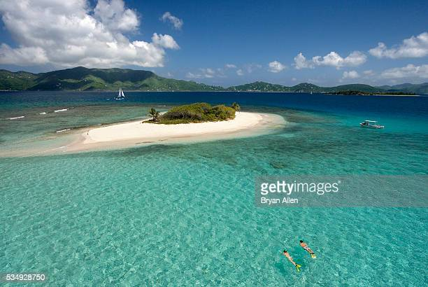 Couple Snorkeling near Sandy Spit Island in the British Virgin Islands