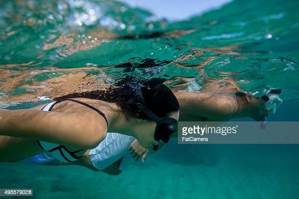 Couple Snorkeling on Their Honeymoon