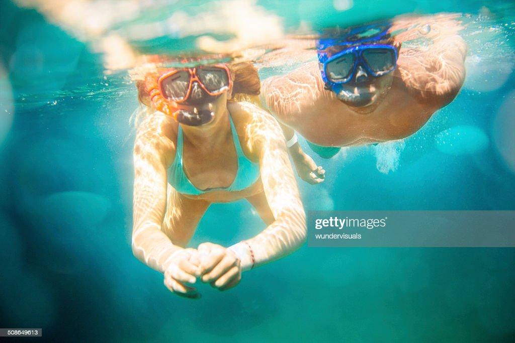 Couple Snorkeling : Stock Photo