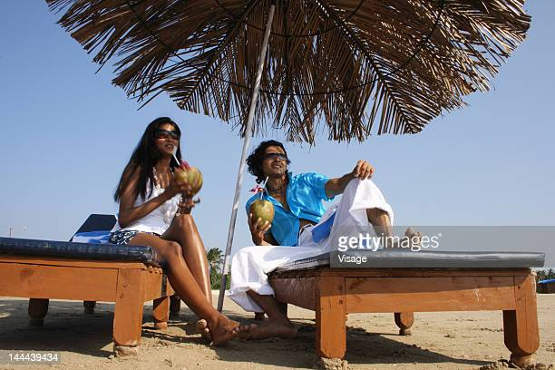 Couple spending time together at a beach