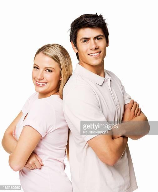 Paar stehen zusammen-isoliert