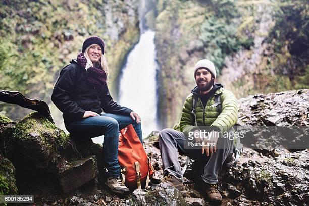 Couple Taking a Break from Hike