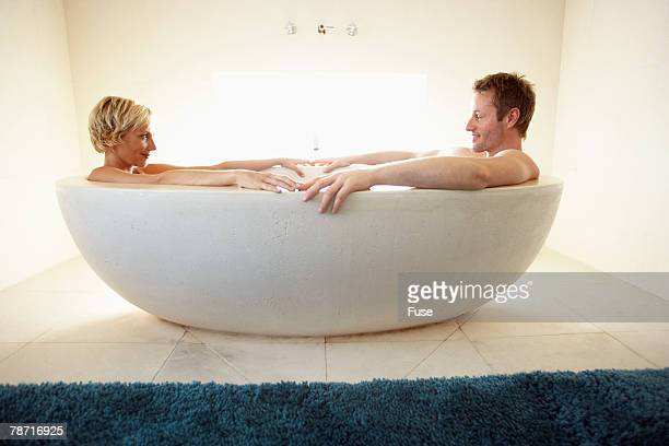 Couple Taking Bath