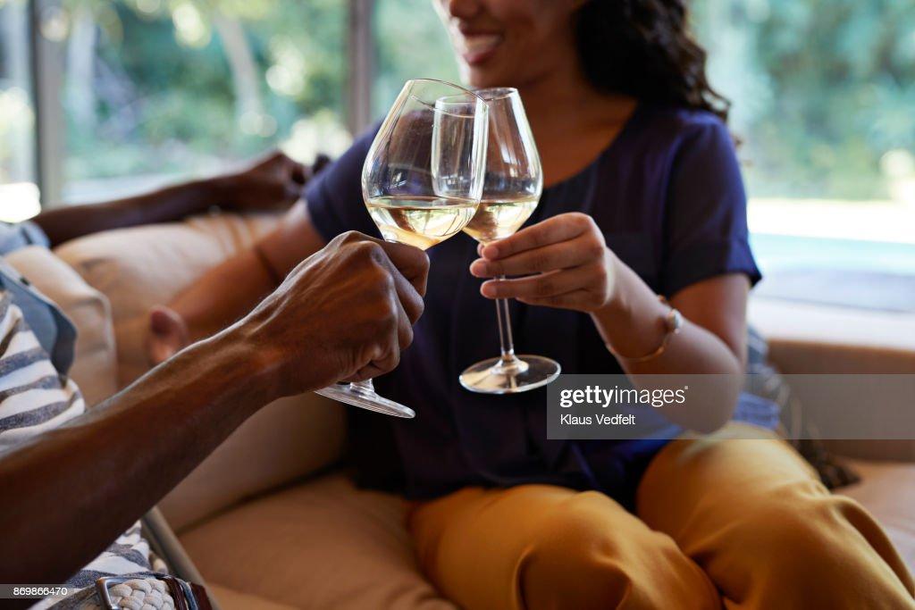 Couple toasting in wine : Stock Photo