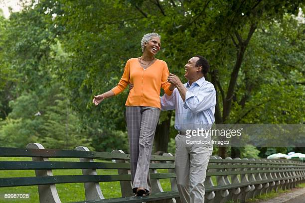Couple together in Central Park