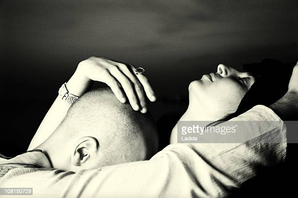 couple touching sensually - black and white sensual couples stock photos and pictures