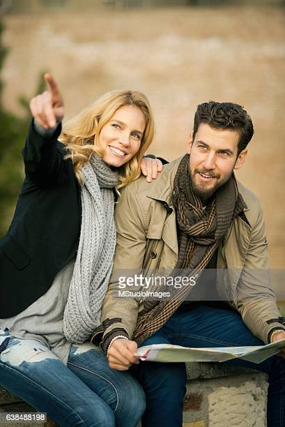 Couple traveling.