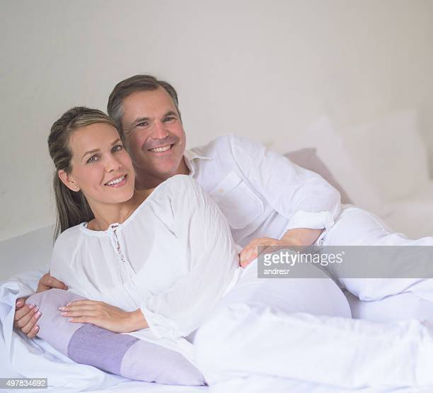 Couple travelling and relaxing at the hotel