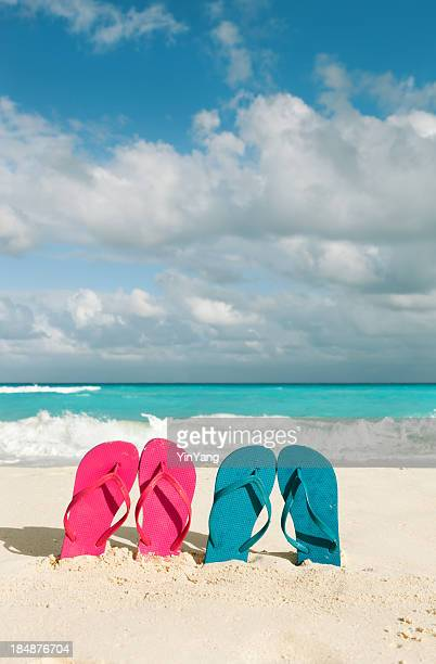 Couple Vacationing in Tropical Caribbean Beach