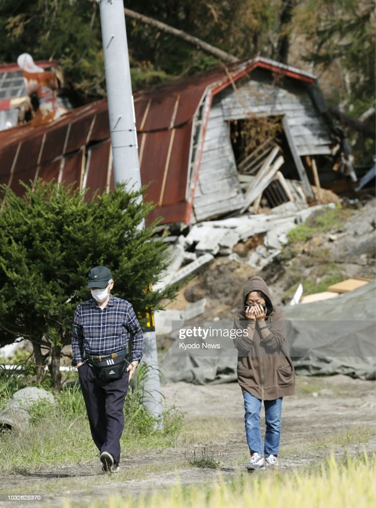 1 week after Hokkaido quake : News Photo