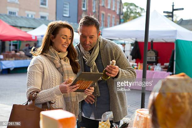 Couple Visit Local Food Market