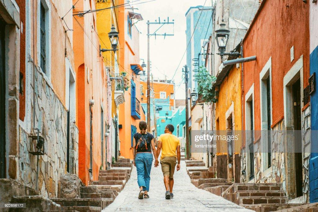 Couple visiting Guanajuato Mexico : Stock Photo