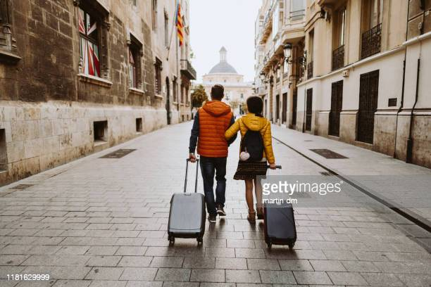 couple visiting valencia - journey stock pictures, royalty-free photos & images