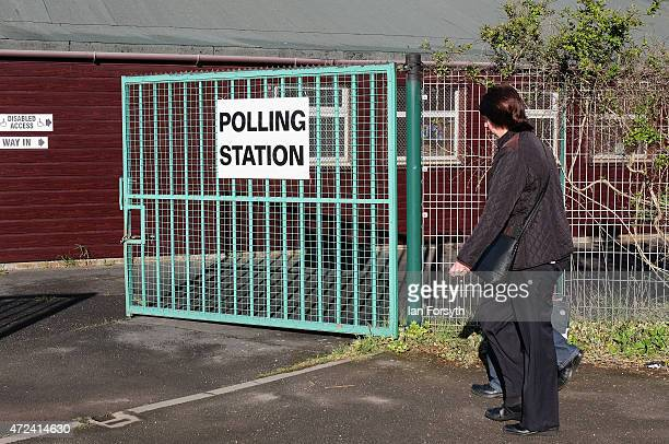 A couple walk into a polling station situated in a scout hut on May 7 2015 in Eston England The nation goes to the polls today to vote on what is...