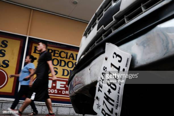 A man shops in a store in downtown Brownsville a border city which has become dependent on the daily crossing into and out of Mexico on June 22 2018...