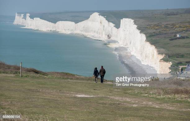 Couple Walking at the Seven Sisters