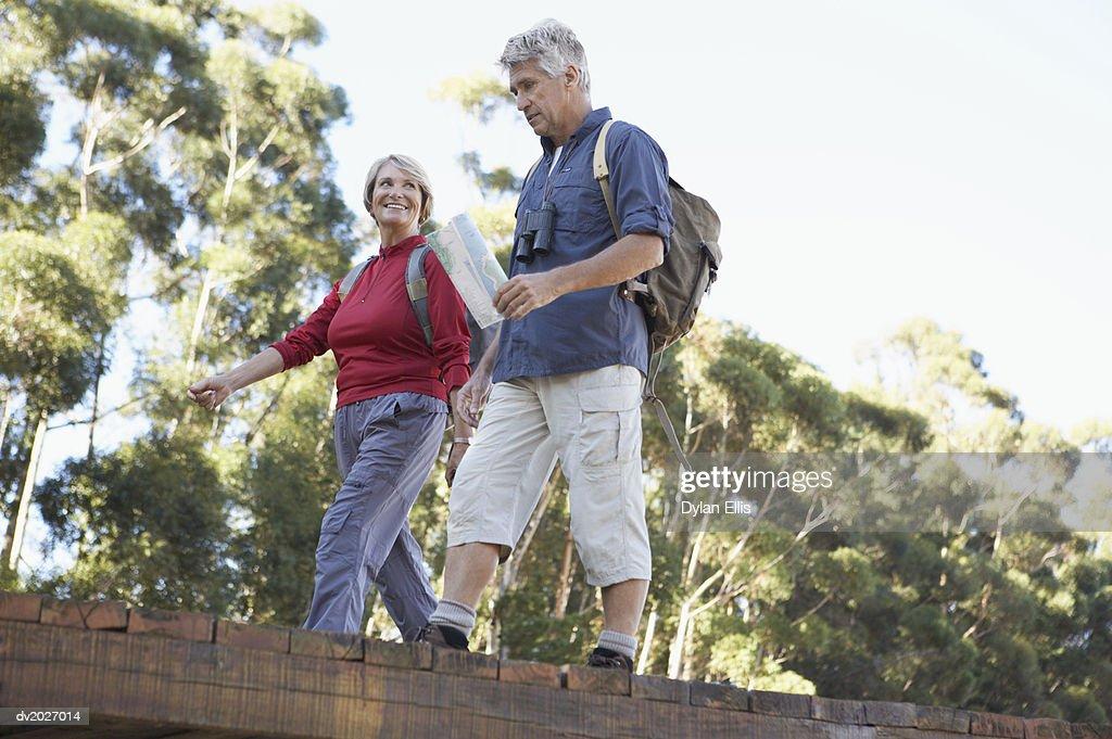 Couple Walking Together : Stock Photo