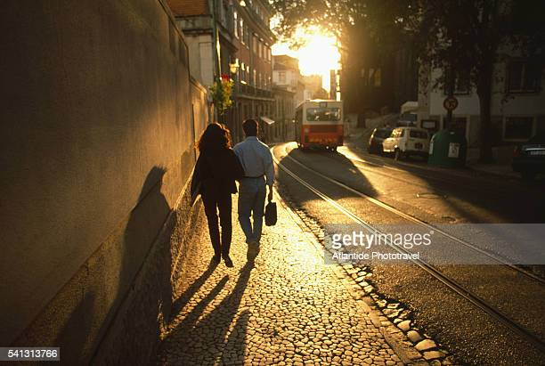A Couple Walks in the Alfama District in Lisbon