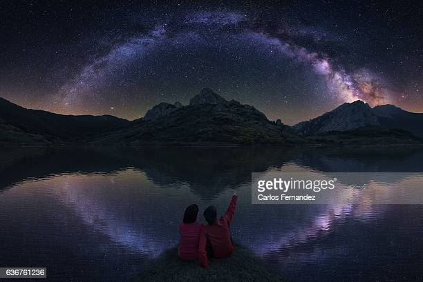Couple Watching Milky Way