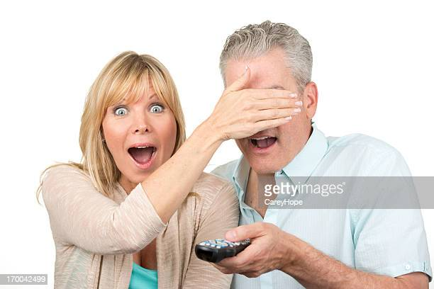 couple watching televison