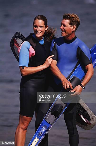 Couple Water-skiing