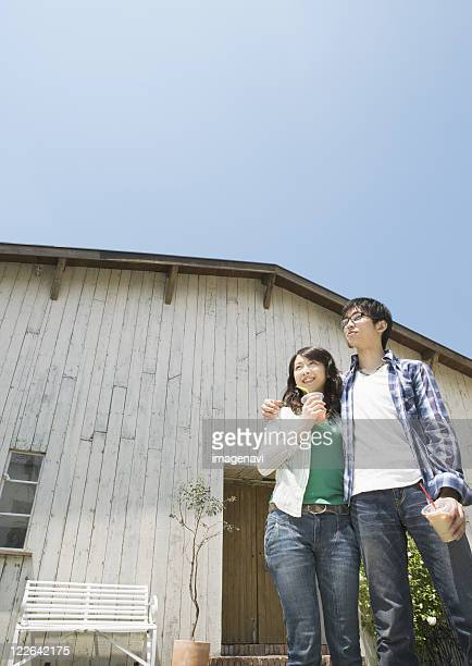 Couple wearing jeans