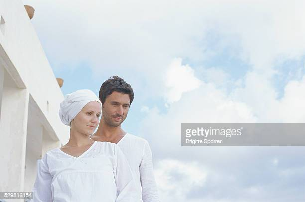 Couple Wearing White Clothes