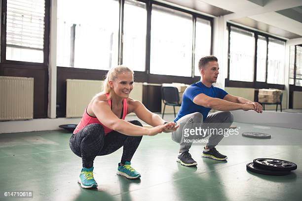 couple who trains together stays together - male bum stock photos and pictures