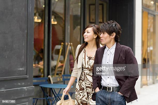 Couple who walks in town by date