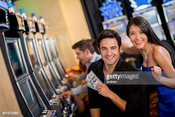 Couple winning at the casino