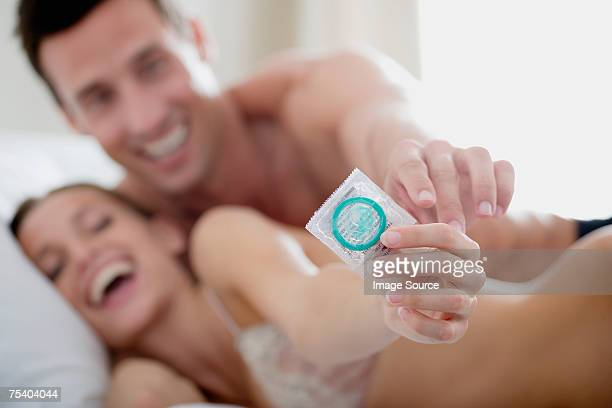 Couple with a condom