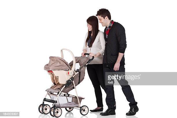 Couple with a pram