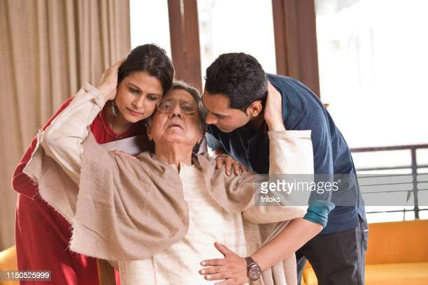 Couple with ailing father at home