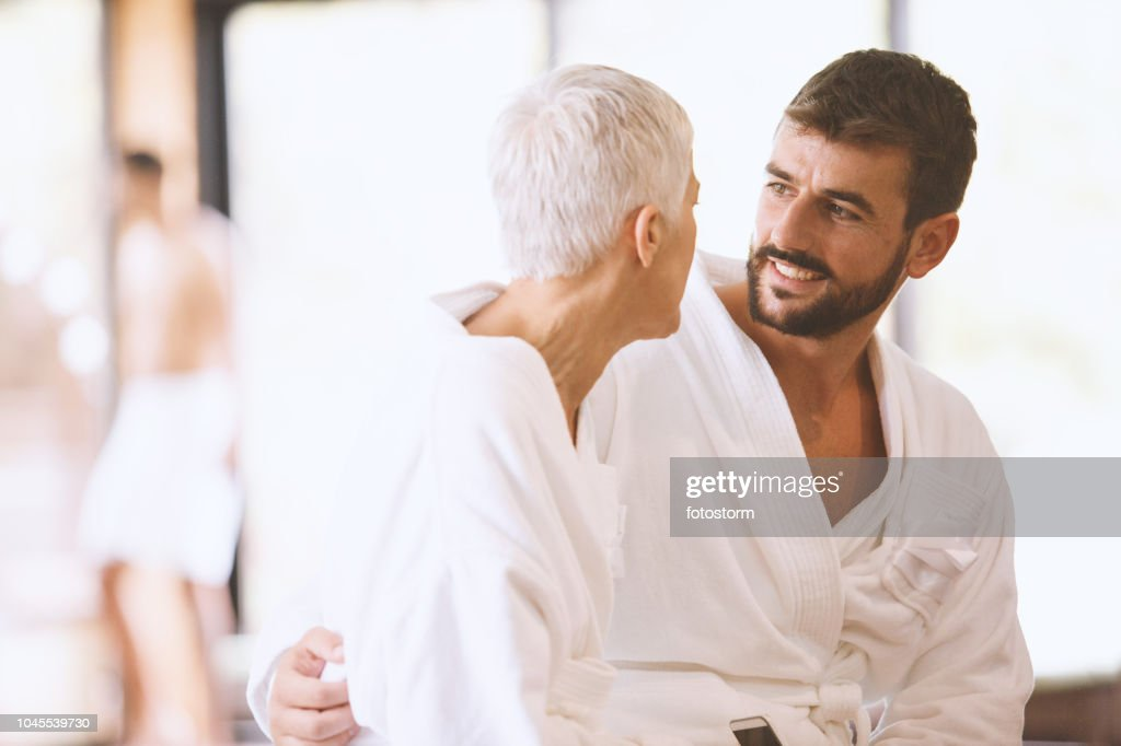 Couple with big age gap : Stock Photo